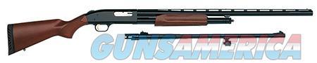"""Mossberg 54264 500 Field/Deer Combo Pump 12 Gauge 5+1 28""""/ 24"""" Wood Stock Blued  Guns > Shotguns > Mossberg Shotguns > Pump > Sporting"""