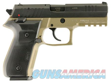 "Arex REXZERO1S03 Rex Zero 1 Standard 9mm Luger Single/Double 4.25"" 17+1 Black Polymer Grip FDE  Guns > Pistols > FIME Group Pistols > Rex Zero 1"