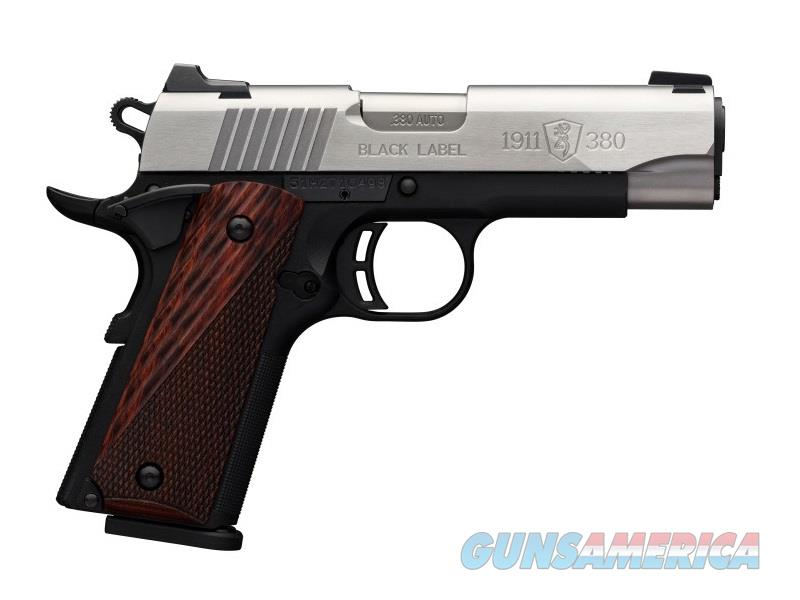 Browning 1911-380PRO MED CPT 380ACP SS MANUAL THUMB SAFETY  Guns > Pistols > B Misc Pistols