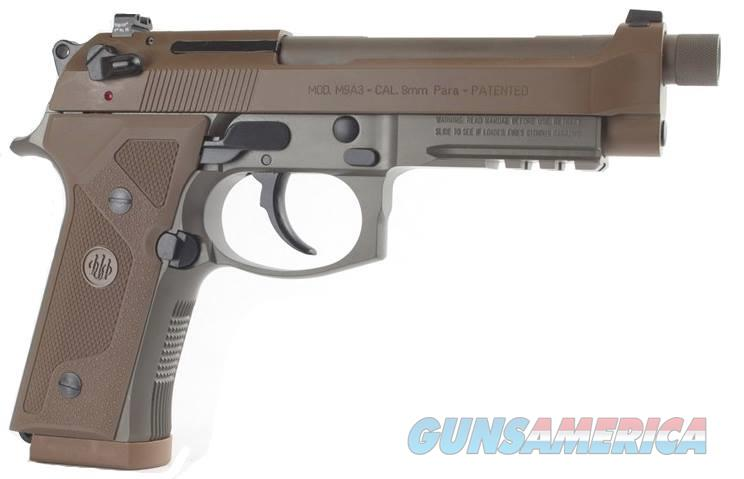 "Beretta USA J92M9A3 M9 Italy Type F Single/Double 9mm Luger 5"" 10+1 Flat Dark Earth Hogue Wraparound  Guns > Pistols > Beretta Pistols > M9"