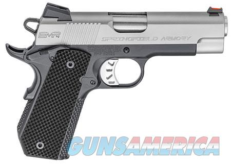 "Springfield Armory PI9224L 1911 EMP Conceal Carry 40 S&W Single 4"" 8+1 Black G10 Grip Stainless  Guns > Pistols > S Misc Pistols"