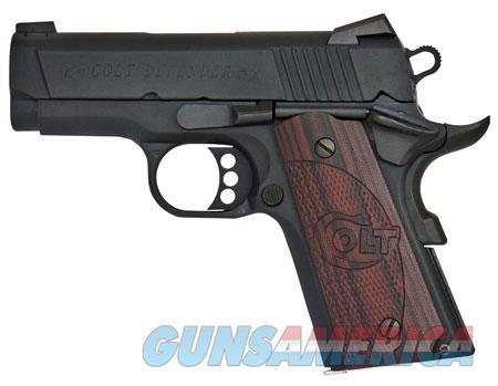 "Colt Mfg O7800XE 1911 Defender 45 ACP Single 3"" 7+1 Black Cherry G10 Grip Blued Carbon Steel Slide  Guns > Pistols > C Misc Pistols"