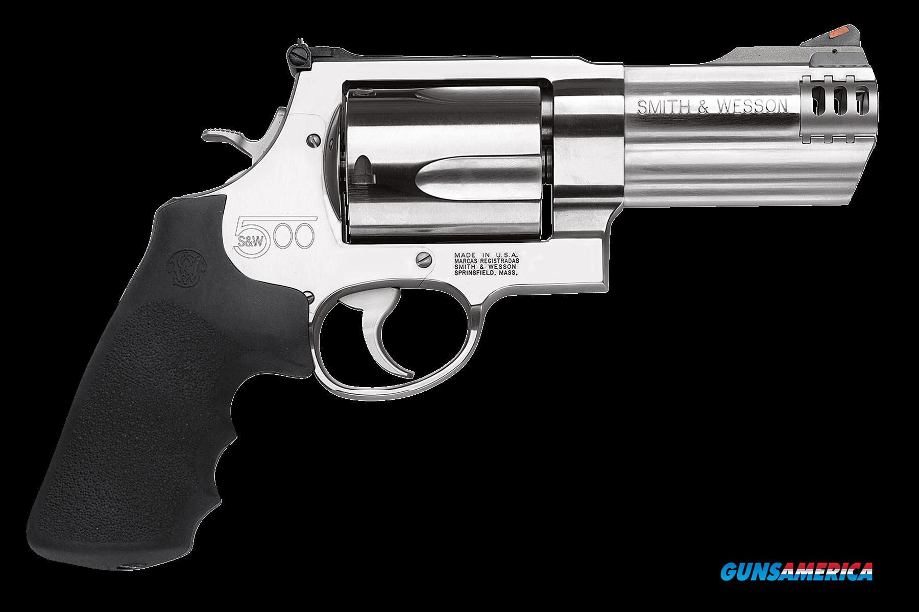 "Smith & Wesson 163504 500 Standard Single/Double 500 Smith & Wesson (S&W) 4"" 5 rd Black Synthetic  Guns > Pistols > Smith & Wesson Revolvers > Full Frame Revolver"