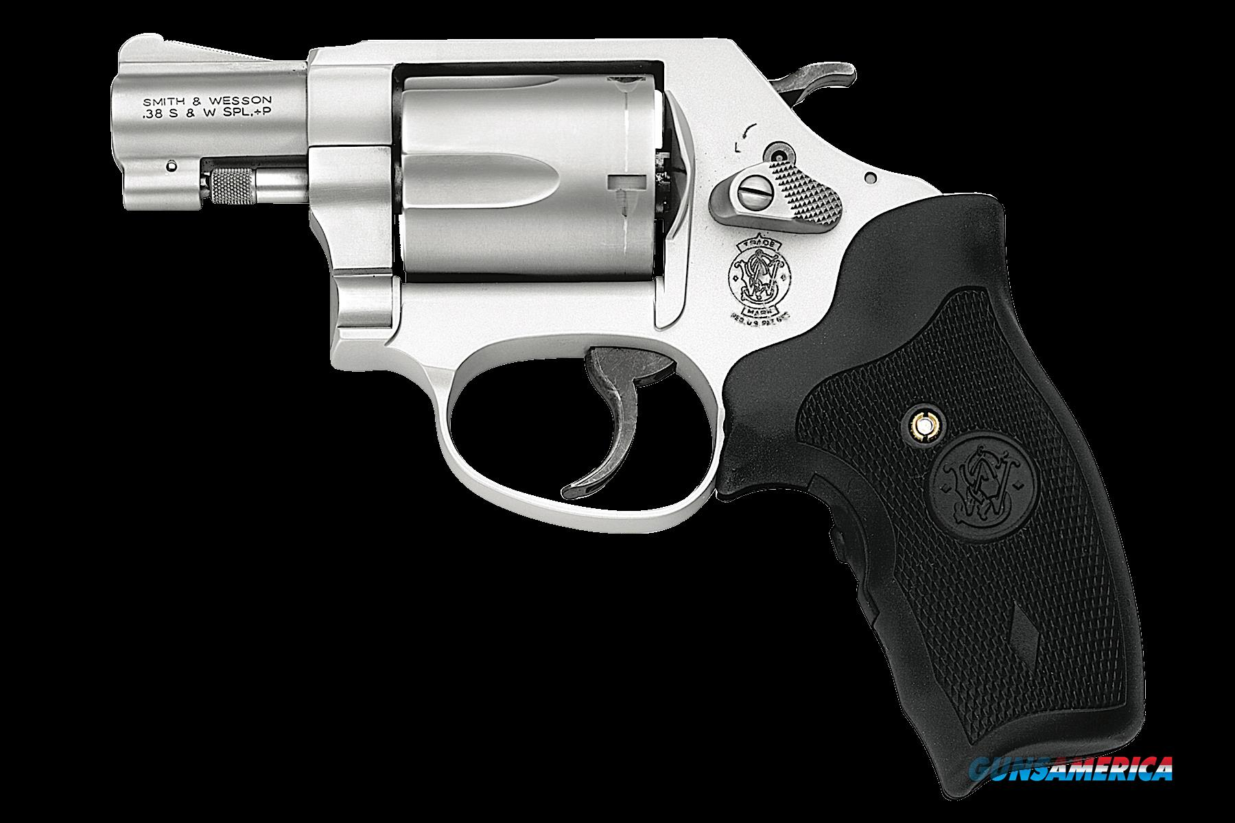 "Smith & Wesson 163052 637 Airweight Single/Double 38 Special 1.875"" 5 rd Black Synthetic Crimson  Guns > Pistols > S Misc Pistols"