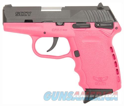 SCCY SCCY CPX1-CB PISTOL DAO 9MM 10RD BLACK/PINK MANUAL SAFETY  CPX1