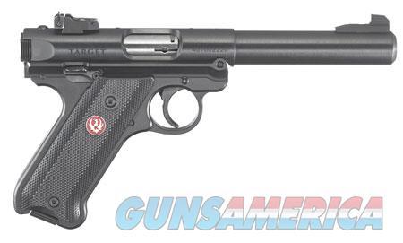 "Ruger 40101 Mark IV Target 22 LR SAO 5.50"" 10+1 Black Synthetic Grip Blued Aluminum Alloy  Guns > Pistols > R Misc Pistols"