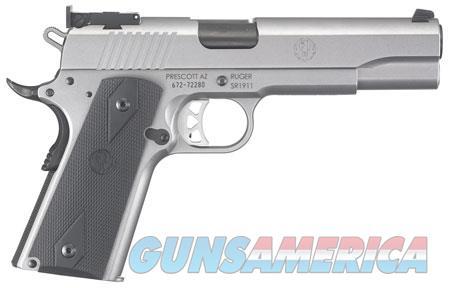 "Ruger 6739 SR1911 Target 10mm Auto Single 5"" 8+1 Black Rubber Grip Stainless Slide  Guns > Pistols > R Misc Pistols"