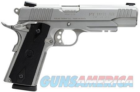 "Taurus 1191109SS1 1911 Standard 45 ACP Single 5"" 8+1 Black Synthetic Grip Stainless Steel Slide  Guns > Pistols > Taurus Pistols > Semi Auto Pistols > Polymer Frame"