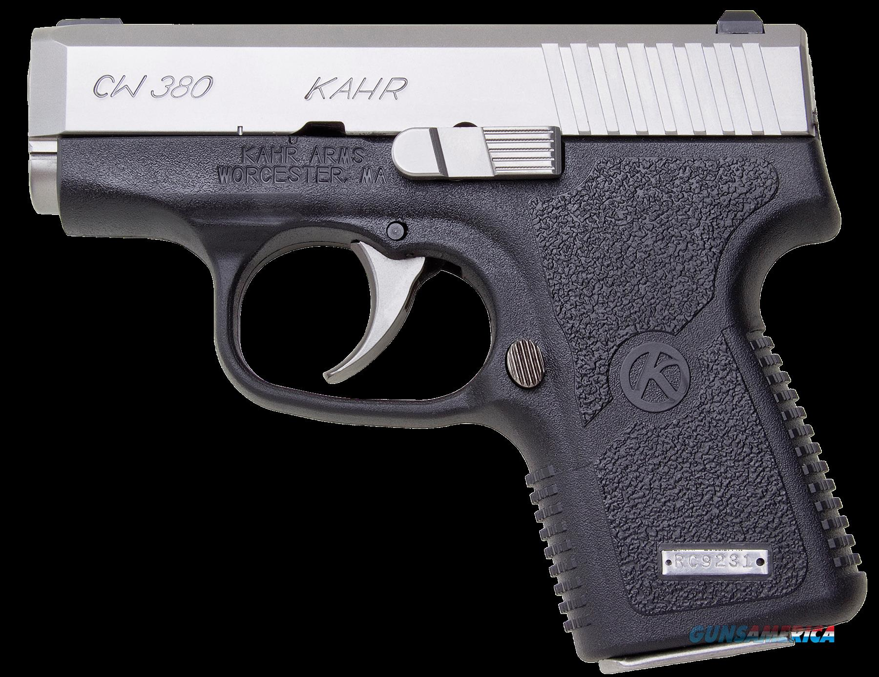 "Kahr Arms CW3833 CW380 380ACP 2.58"" 6+1 Black Polymer Grip Stainless  Guns > Pistols > K Misc Pistols"