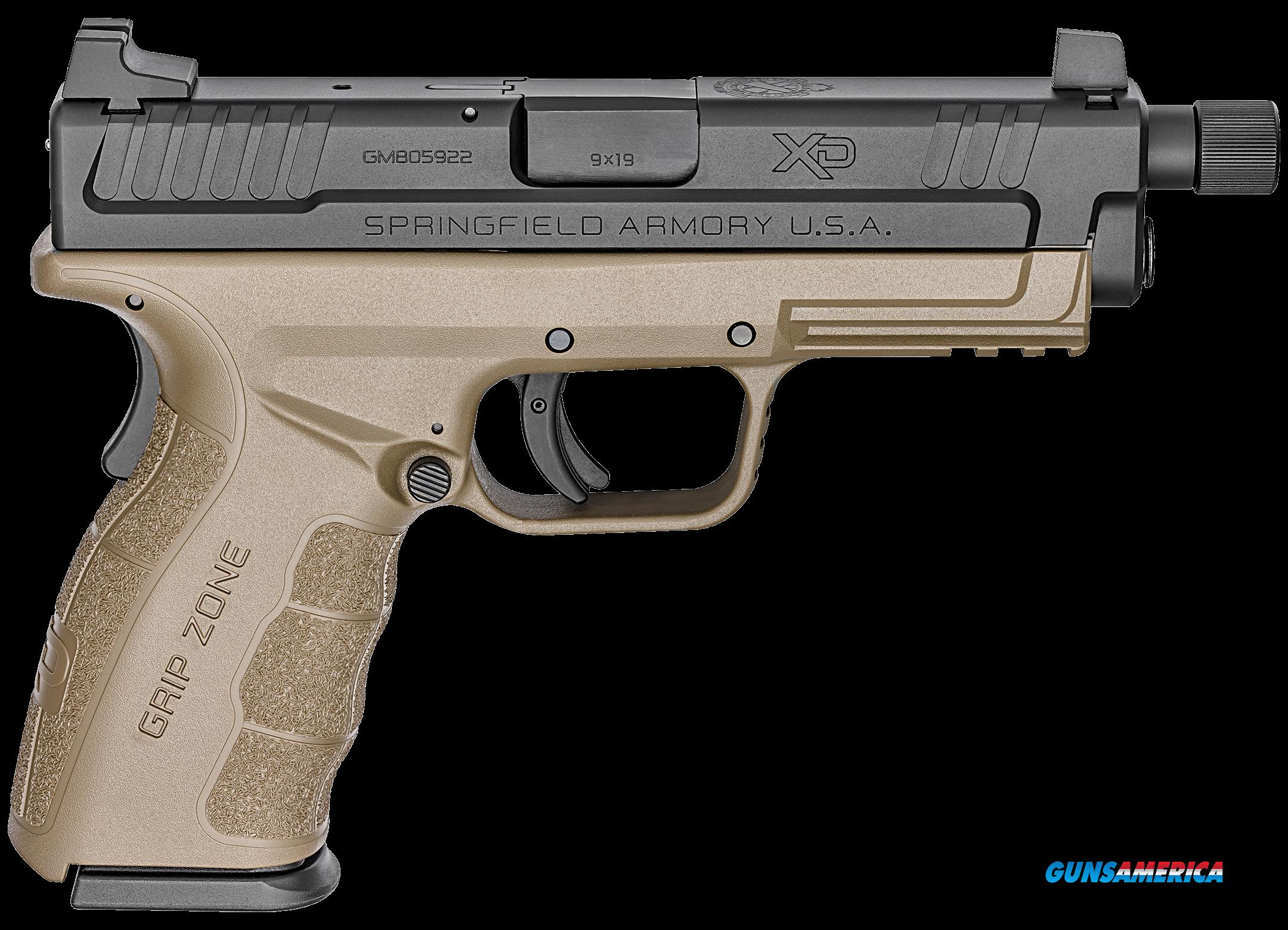 "Springfield Armory XDGT9101FDEH XD Mod.2 Service Double 9mm 4.8"" TB 16+1 Flat Dark Earth Polymer  Guns > Pistols > Springfield Armory Pistols > XD-Mod.2"