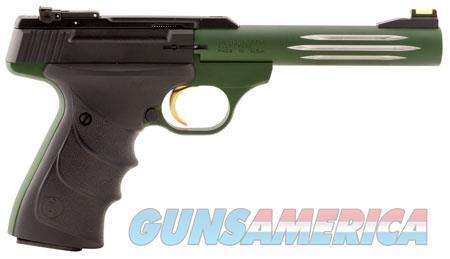 """Browning 051516490 Buck Mark Lite 22 LR 5.5"""" 10+1 Green Aluminum Alloy Black Ultragrip RX  Guns > Pistols > Browning Pistols > Buckmark"""