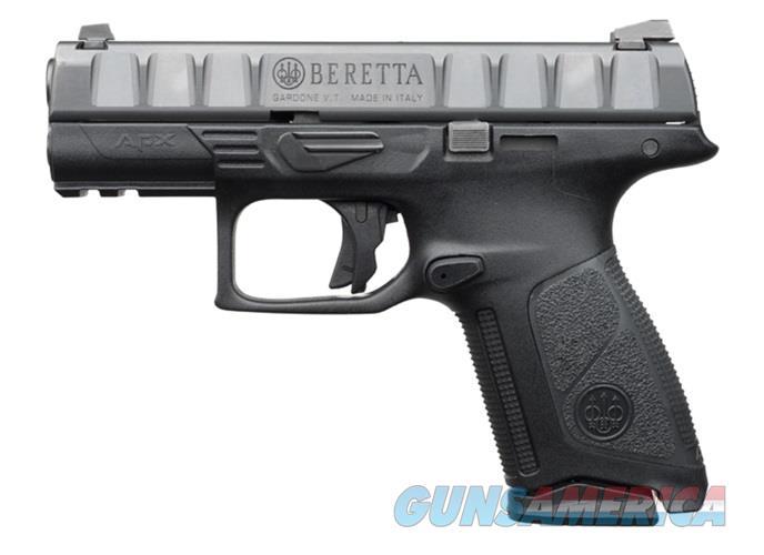 """Beretta USA JAXQ921 APX Centurion  9mm Luger Double 3.7"""" 15+1 Black Interchangeable Backstrap Grip  Guns > Pistols > Beretta Pistols > Polymer Frame"""