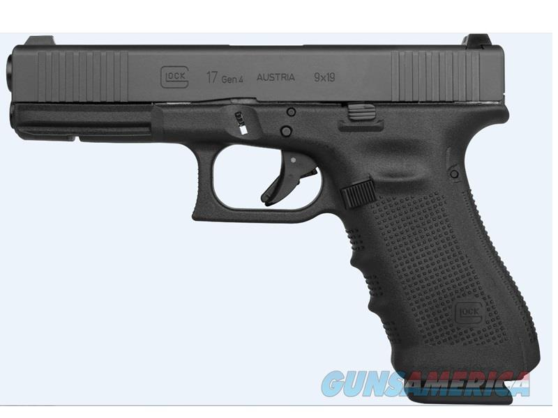"Glock PG1750733FS G17 Gen4 FS 9mm Luger Double 4.48"" 17+1 GNS Black Interchangeable Backstrap Grip  Guns > Pistols > G Misc Pistols"