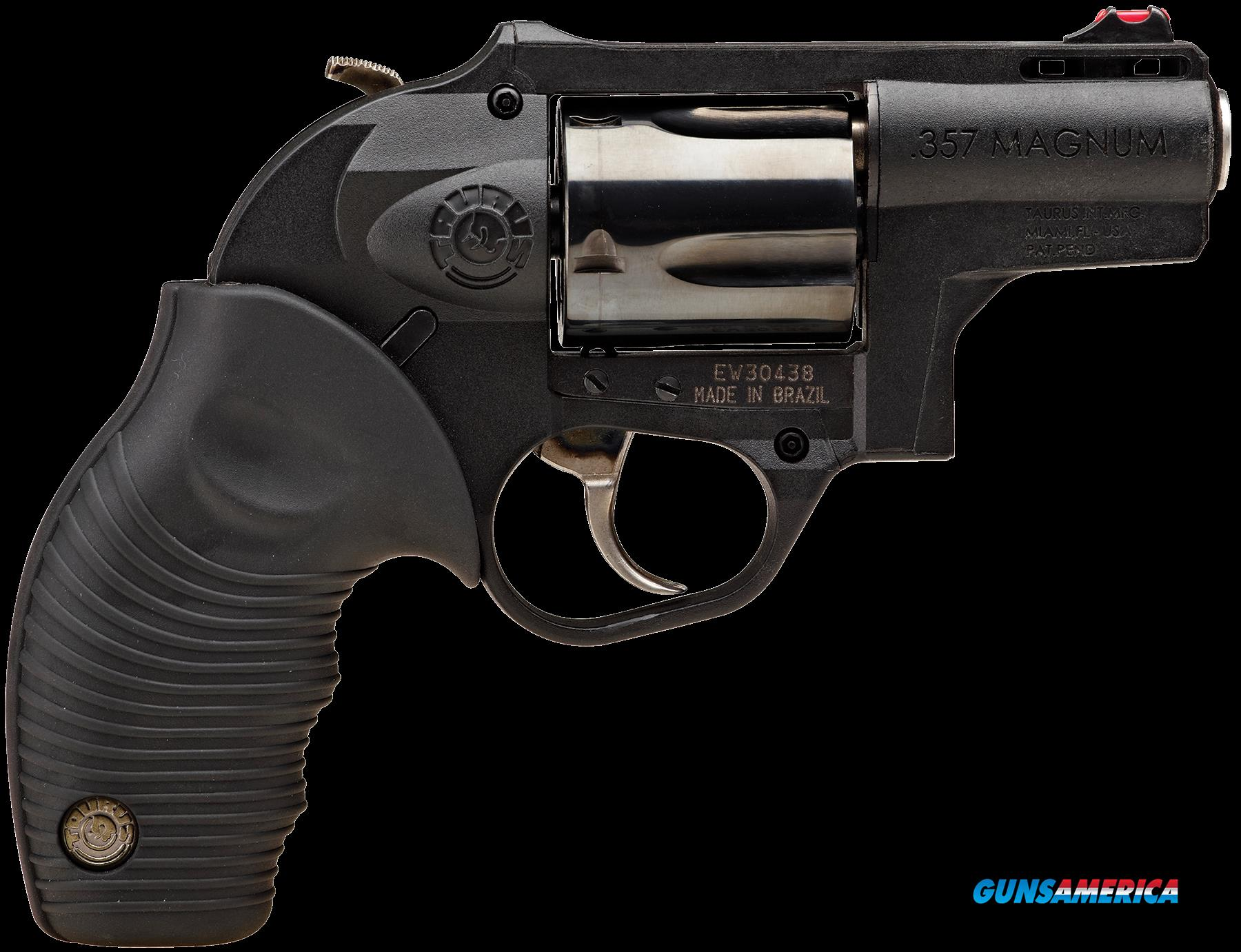 "Taurus 2605021PLY 605 357RemMag 2"" 5rd Hard Rubber Grip Poly Frame Blued  Guns > Pistols > Taurus Pistols > Revolvers"