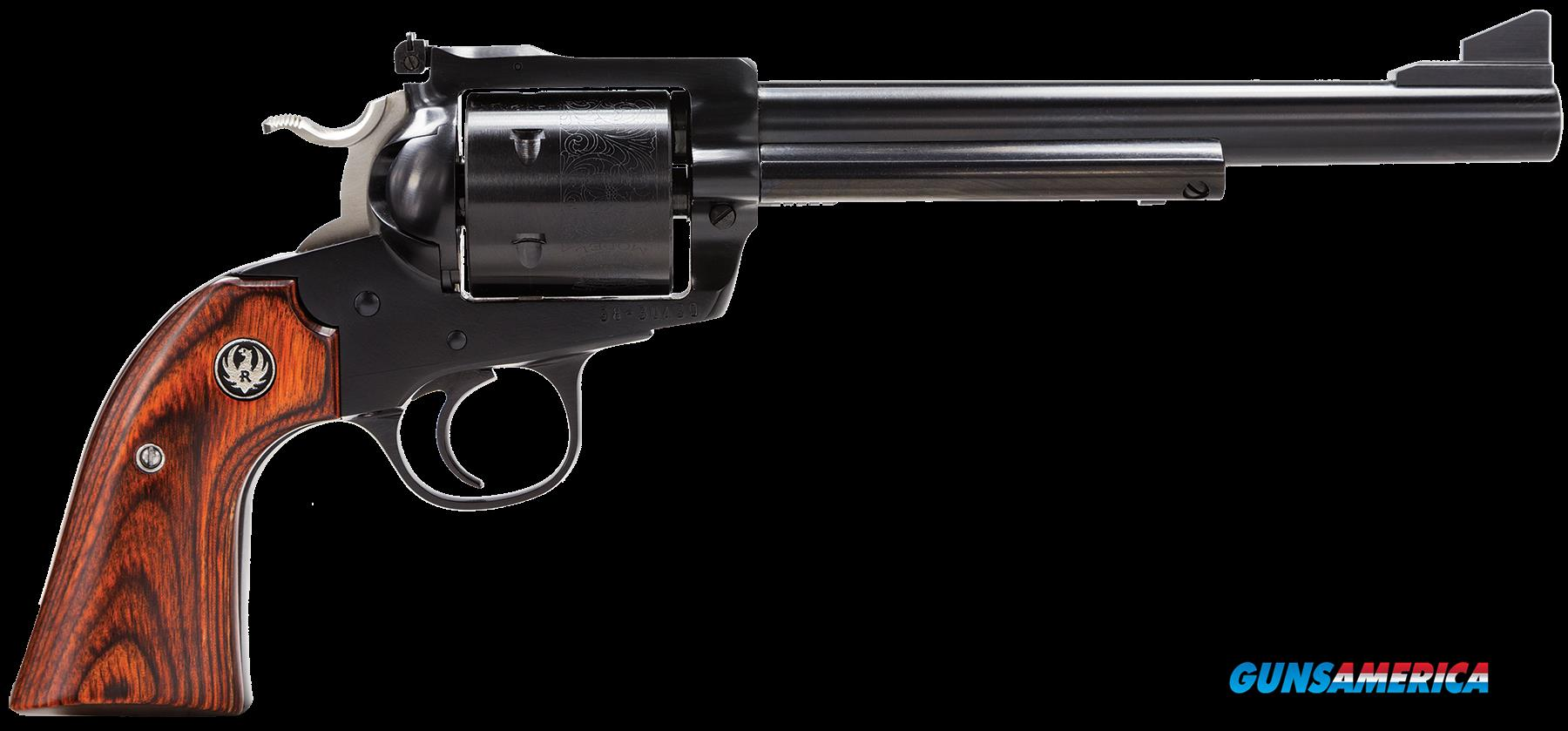 "Ruger 0447 Blackhawk Bisley Single 45 Colt (LC) 7.5"" 6 Hardwood Blued  Guns > Pistols > R Misc Pistols"
