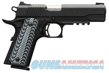 """Browning 051907492 1911-380 Black Label Pro with Rail Single 380 Automatic Colt Pistol (ACP) 4.25""""  Guns > Pistols > Browning Pistols > Other Autos"""