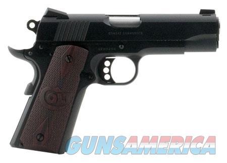 "Colt Mfg O4940XE 1911 Combat Commander 45 ACP Single 4.25"" 8+1 Black Cherry G10 Grip Blued Carbon  Guns > Pistols > C Misc Pistols"