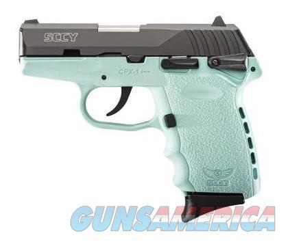 SCCY Industries CPX-1 9MM BLK/BLUE 10+1 SFTY SCCY BLUE POLYMER FRAME  Guns > Pistols > SCCY Pistols > CPX1