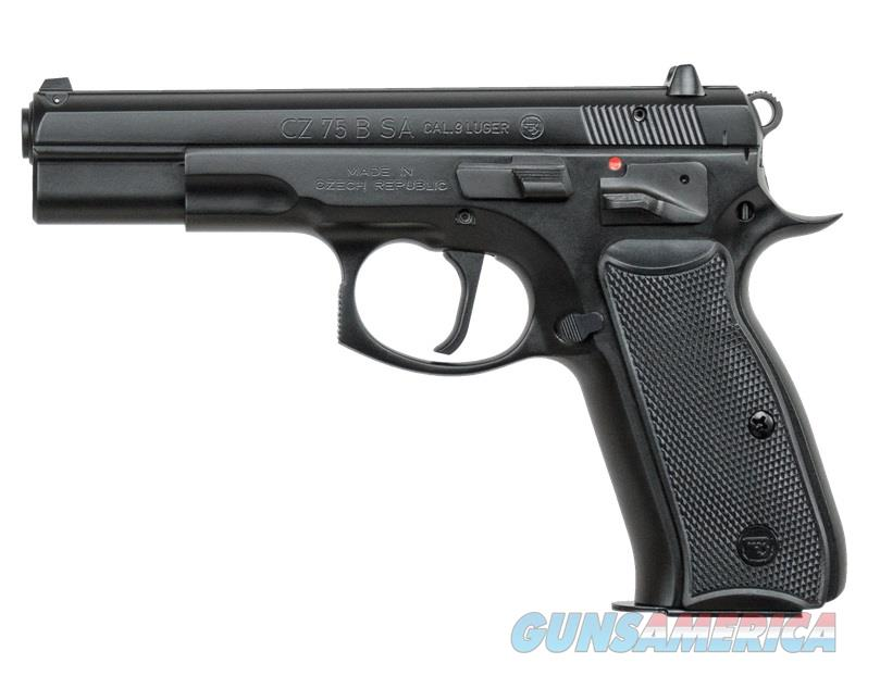 CZ-USA CZ 75B SA 9MM BLACK 4.7 10+1 SINGLE ACTION  Guns > Pistols > CZ Pistols