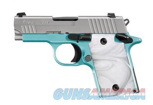 SIG SAUER P938 9MM ROBINS EGG BLUE SLITE 938-9-REB-AMBI  Guns > Pistols > S Misc Pistols