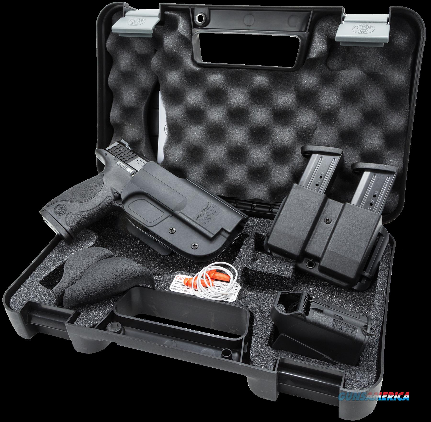 "Smith & Wesson 209330 M&P 40 with Carry and Range Kit Double 40 Smith & Wesson (S&W) 4.25"" 15+1  Guns > Pistols > Smith & Wesson Pistols - Autos > Polymer Frame"