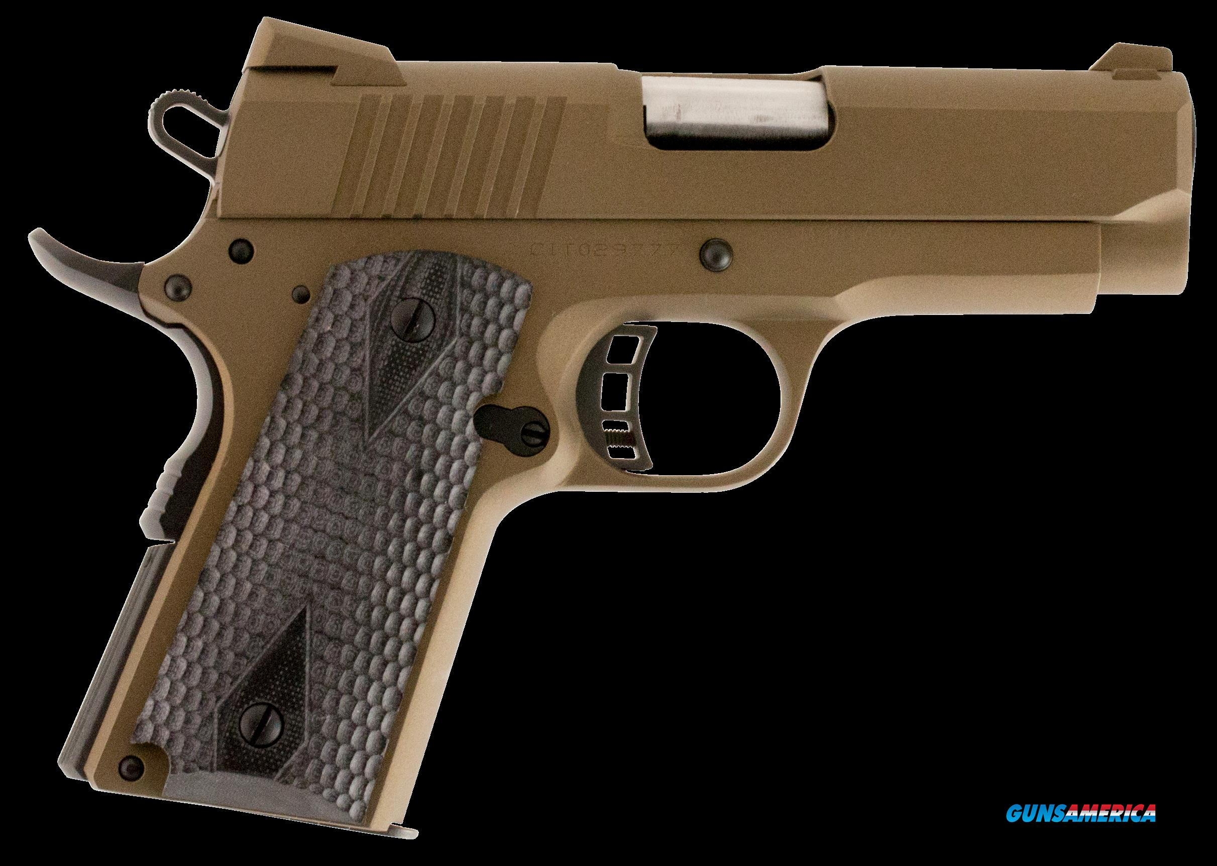 "Citadel C9MMCS148H00 M-1911 Officer Compact SAO 9mm 3.5"" 8+1 Hogue Grip Burnt Bronze Cerakote  Guns > Pistols > C Misc Pistols"