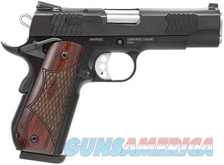"Smith & Wesson 108483 1911 E Series 45 ACP Single 4.25"" 8+1 Laminate Wood/Rounded Butt Grip Black  Guns > Pistols > Smith & Wesson Pistols - Autos > Steel Frame"