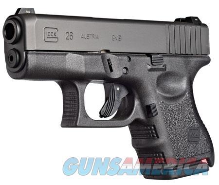 "Glock UI2650201 G26 Subcompact Double 9mm Luger 3.42"" 10+1 Black Polymer Grip/Frame Grip Black  Guns > Pistols > G Misc Pistols"