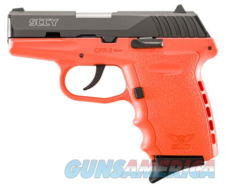 """SCCY Industries CPX2CBOR CPX-2 Carbon 9mm Luger Double 3.10"""" 10+1 Orange Polymer Grip/Frame Grip  Guns > Pistols > SCCY Pistols > CPX2"""