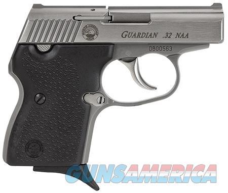 "NAA GUARDIAN Guardian   32 NAA 2.50"" 6+1 Stainless Steel Stainless Steel Black Rubber Grip  Guns > Pistols > MN Misc Pistols"