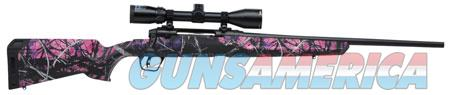 """Savage 57100 Axis II XP Compact with Scope Bolt 243 Win 20"""" 4+1 Muddy Girl Fixed Stock Black Carbon  Guns > Rifles > Savage Rifles > Axis"""