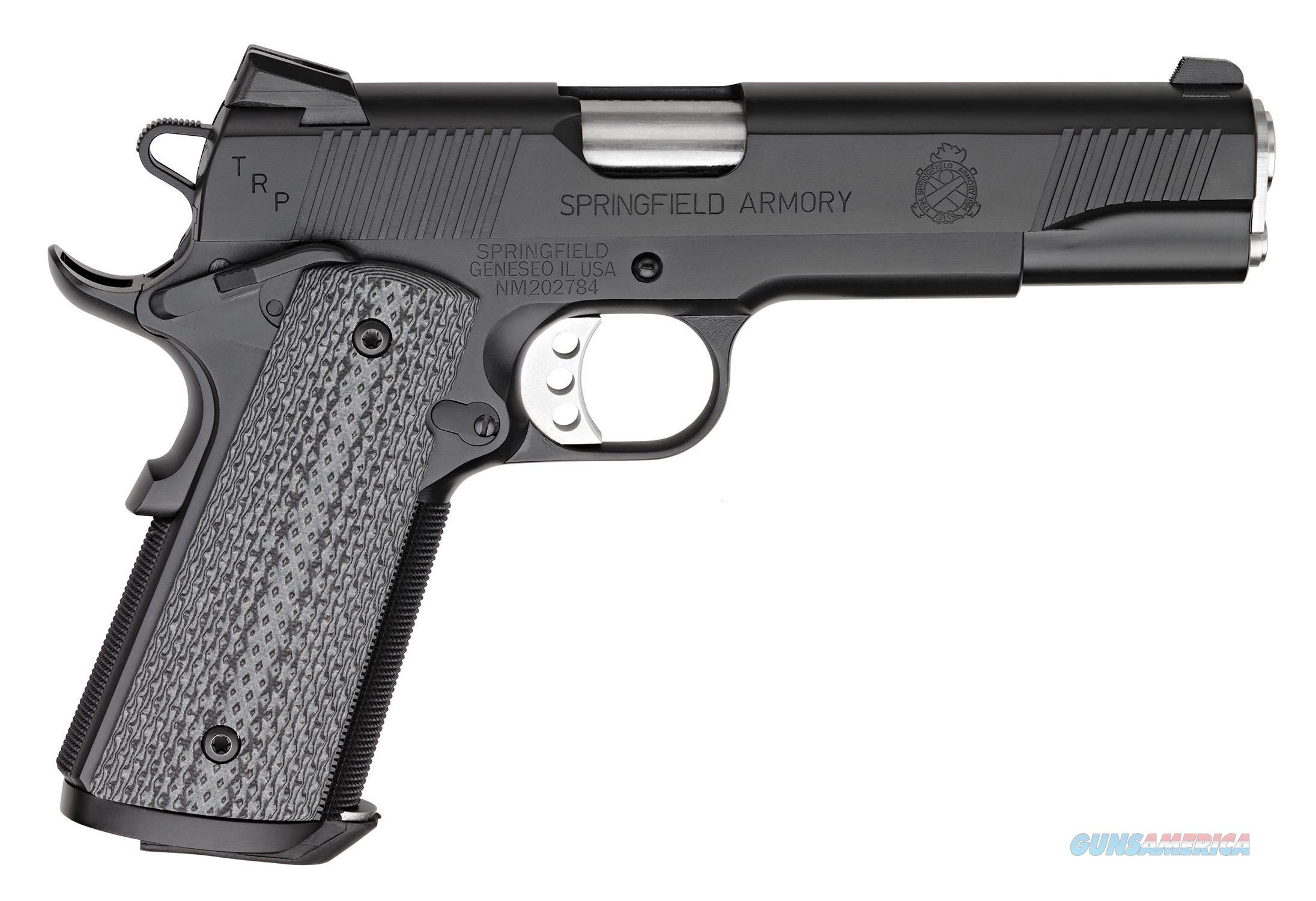 "Springfield Armory PC9108L18 1911 TRP  45 Automatic Colt Pistol (ACP) Single 5"" 7+1 Black/Gray G10  Guns > Pistols > S Misc Pistols"