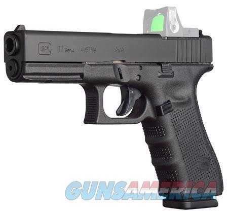 "Glock PG1750203MOS G17 Gen4 MOS Double 9mm Luger 4.48"" FS 17+1 Black Interchangeable Backstrap Grip  Guns > Pistols > Glock Pistols > 17"