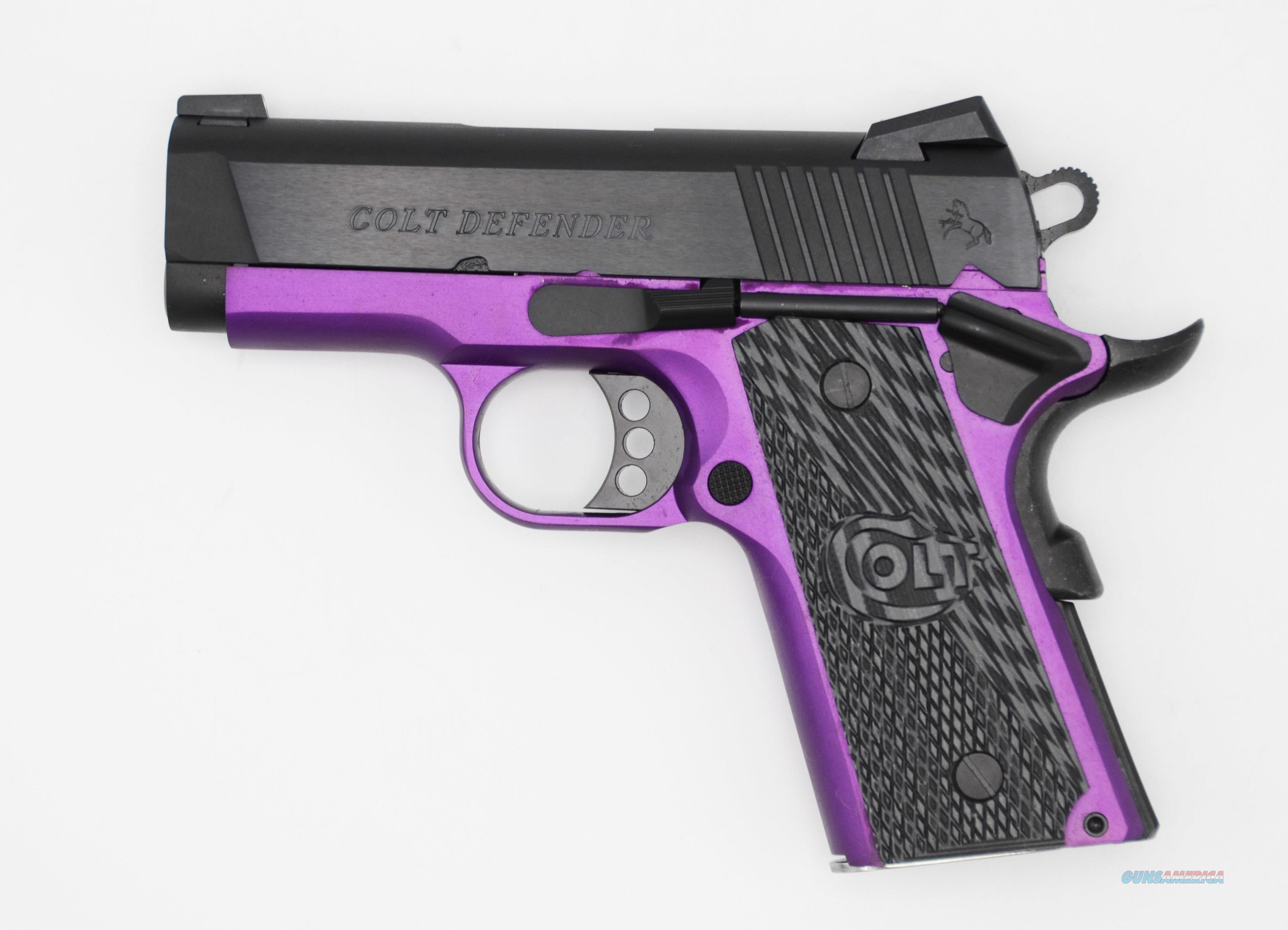 Colt DEFENDER 45ACP BL/PURPLE 3 ANODIZED PURPLE FRAME  Guns > Pistols > C Misc Pistols