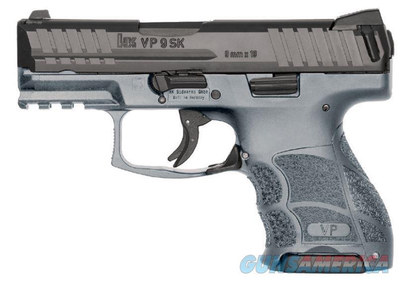 "HK 81000100 VP9 SK  9mm Luger Double 3.39"" 10+1 Gray Interchangeable Backstrap Grip Black Slide  Guns > Pistols > H Misc Pistols"