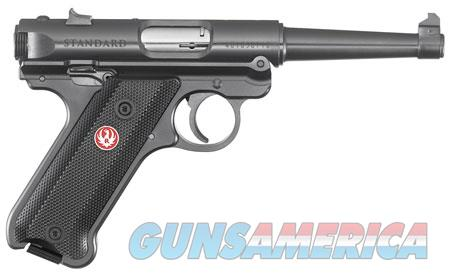 "Ruger 40104 Mark IV Standard  22 LR SAO 4.75"" 10+1 Black Checkered Grip Blued Slide  Guns > Pistols > R Misc Pistols"