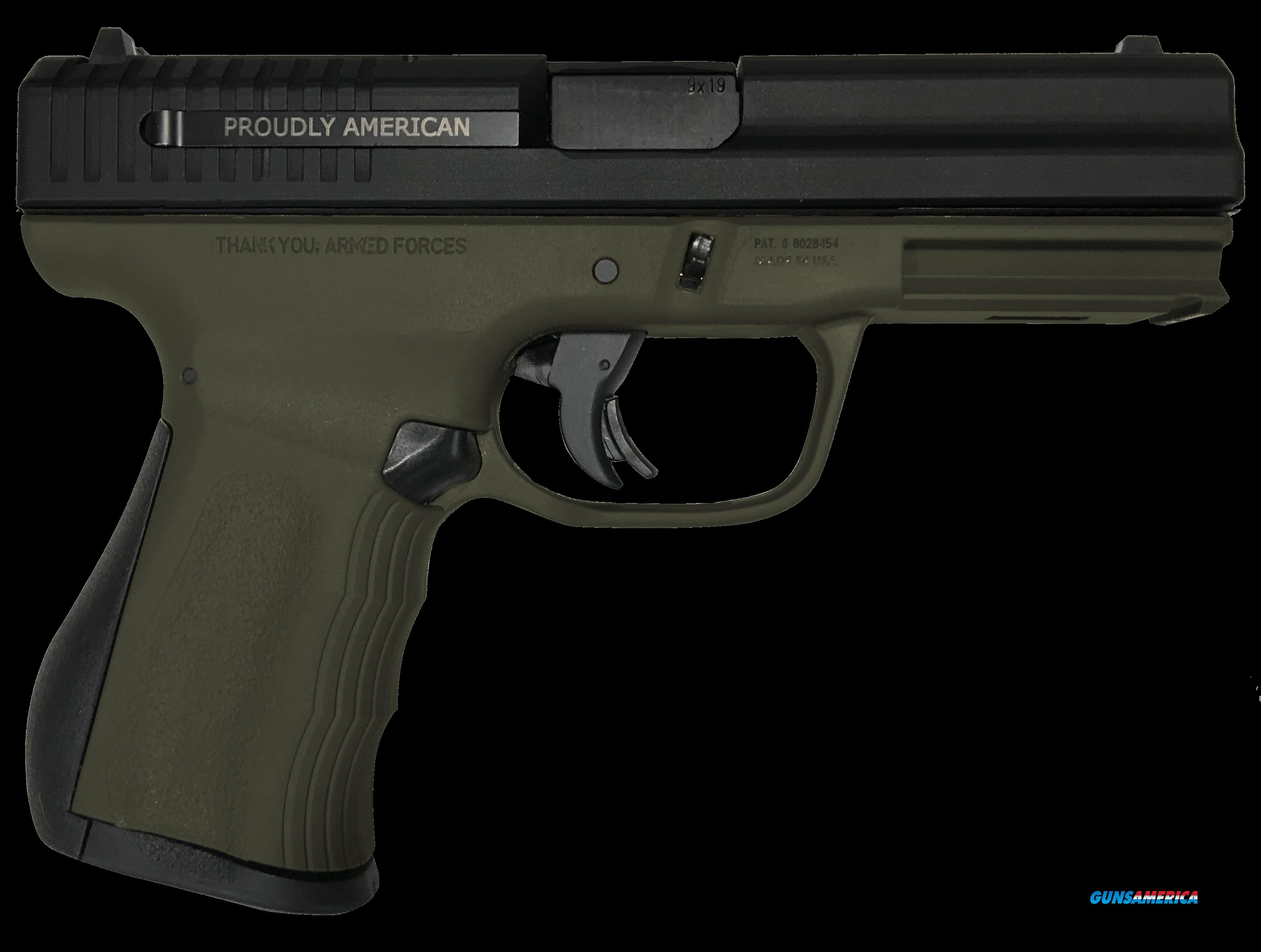 "FMK G9C1G2OD 9C1 G2 FAT Single 9mm Luger 4"" 14+1 OD Green Polymer Grip/Frame Black Carbon Steel  Guns > Pistols > FMK"