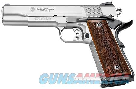 """Smith & Wesson 178017 1911 Performance Center Pro Single 9mm Luger 5"""" 10+1 Wood Grip Stainless Steel  Guns > Pistols > Smith & Wesson Pistols - Autos > Steel Frame"""