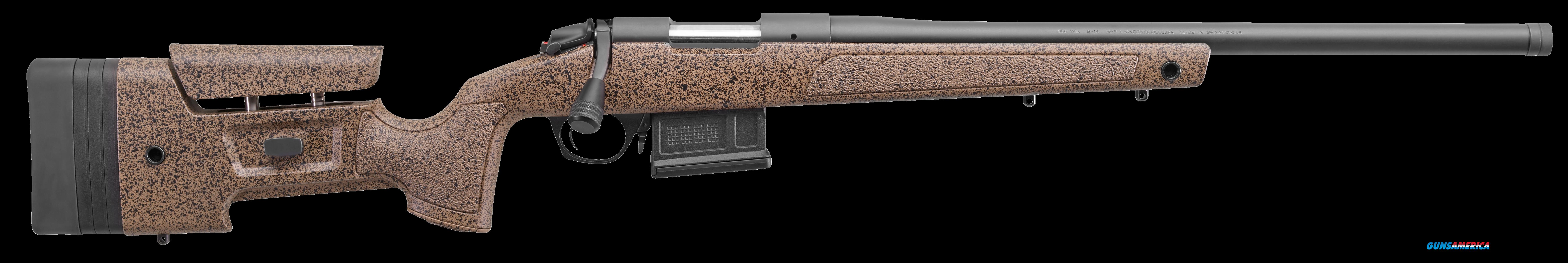 "Bergara Rifles B14S351 B-14 HMR Bolt 308 Winchester/7.62 NATO 20"" 5+1 Synthetic/Mini-Chassis Brown  Guns > Rifles > B Misc Rifles"