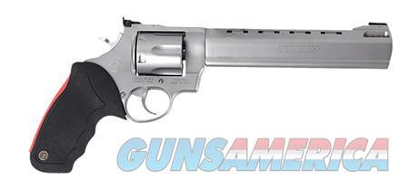 "Taurus 2444089 444 Raging Bull 44 Rem Mag 6 Round 8.38"" Stainless Stainless Steel Black Rubber Grip  Guns > Pistols > Taurus Pistols > Revolvers"