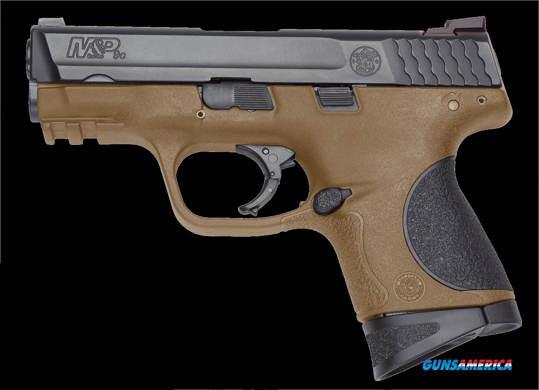 "Smith & Wesson 10191 M&P 9 Compact Double 9mm Luger 3.5"" 12+1 Black Polymer Grip Black Stainless  Guns > Pistols > S Misc Pistols"