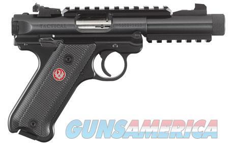 """Ruger 40150 Mark IV Tactical 22 LR SAO 4.40"""" 10+1 Black Checkered Grip Black Slide  Guns > Pistols > R Misc Pistols"""