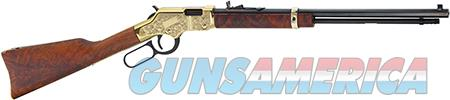 "Henry H004VD3 Golden Boy Deluxe Engraved 3rd Edition Lever 17 HMR 20"" 11+1 American Walnut Stk Brass  Guns > Rifles > Henry Rifles - Replica"