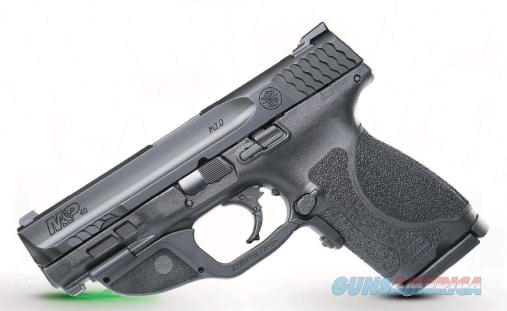 """Smith & Wesson 12415 M&P 40 M2.0 Compact Crimson Trace Laserguard 40 S&W Double 4"""" 13+1 Black  Guns > Pistols > S Misc Pistols"""