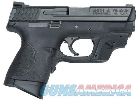 "Smith & Wesson 10176 M&P 9 Compact Crimson Trace Laserguard  9mm Luger Double 3.5"" 12+1 Black  Guns > Pistols > Smith & Wesson Pistols - Autos > Polymer Frame"