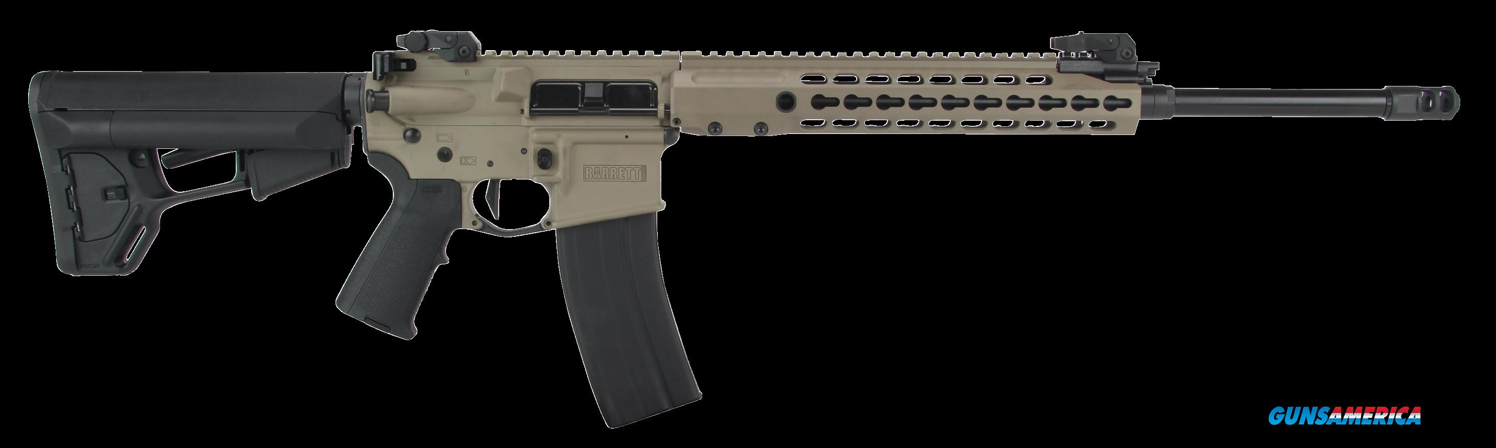 "Barrett 14953 REC 7 Gen II Semi-Automatic 223 Remington/5.56 NATO 18"" 30+1 Magpul MOE Blk Stk Flat  Guns > Rifles > B Misc Rifles"
