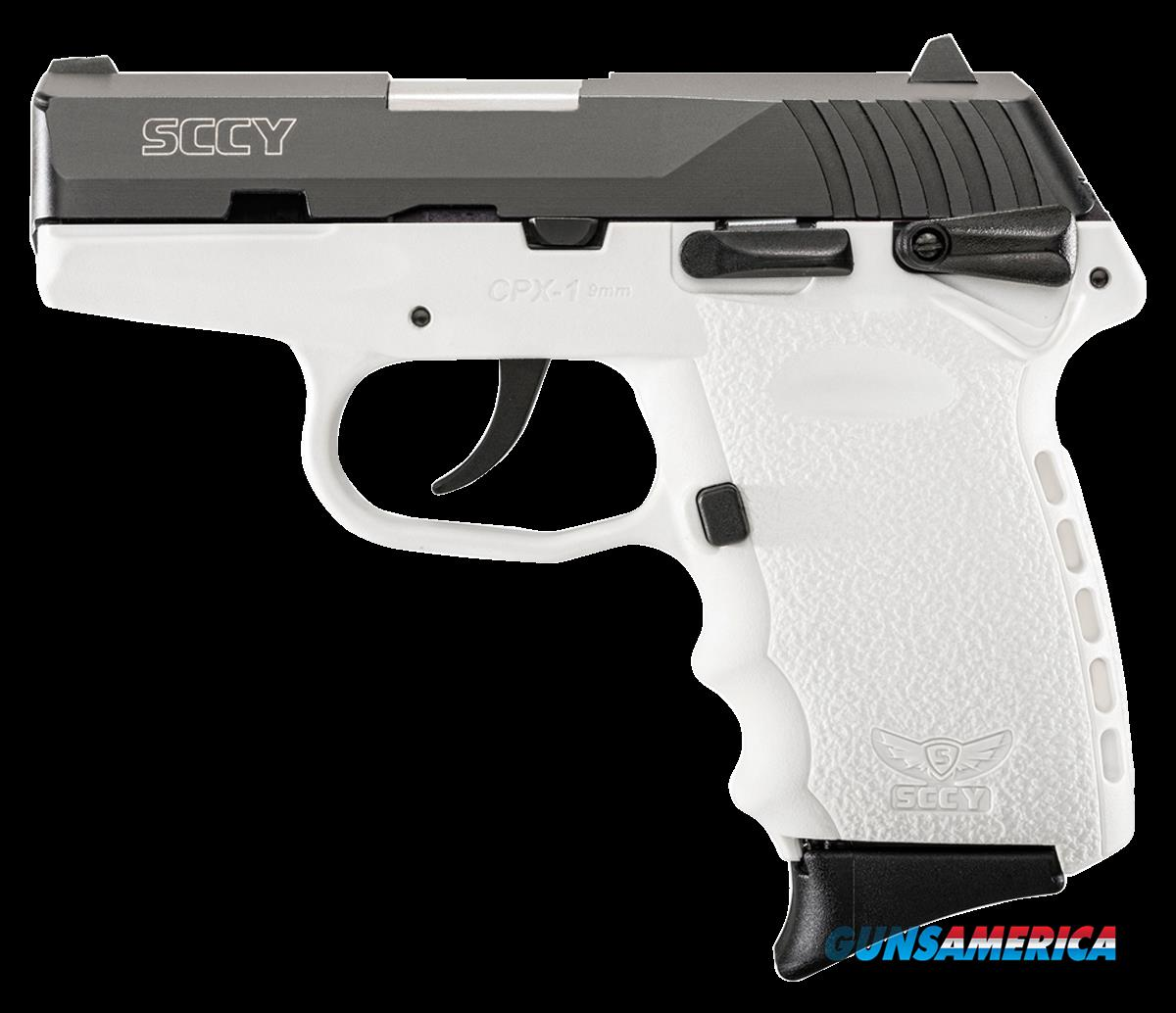 "SCCY Industries CPX1CBWT CPX-1 Double 9mm 3.1"" 10+1 White Polymer Grip/Frame Grip Black Nitride  Guns > Pistols > S Misc Pistols"