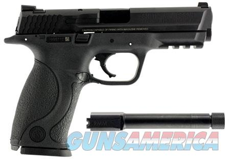 """Smith & Wesson LE 150922 M&P 9  with Threaded Barrel Kit 9mm Luger Double 4.25"""" 17+1 Black  Guns > Pistols > Smith & Wesson Pistols - Autos > Polymer Frame"""