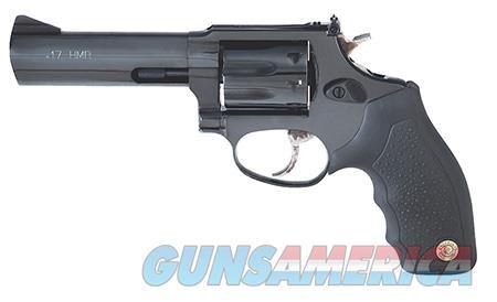 "Taurus 2170061 17 Tracker Revolver Single/Double 17 HMR 6.50"" 7 Round Black Ribber Grip Blued  Guns > Rifles > Taurus Rifles"
