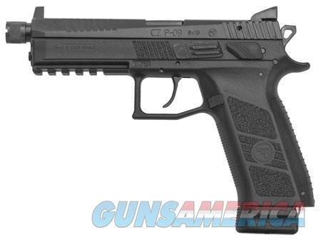 "CZ 91270 P-09 Suppressor Ready 9mm Luger Single/Double 5.10"" 21+1 Black Interchangeable Backstrap  Guns > Pistols > C Misc Pistols"